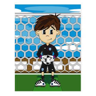 Cute England Soccer Goalkeeper Postcard