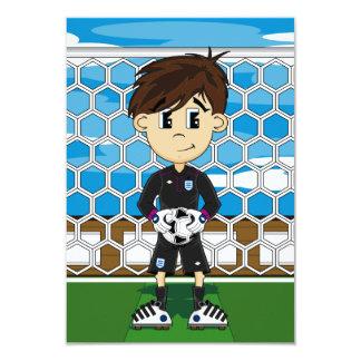 "Cute England Soccer Goalkeeper RSVP Card 3.5"" X 5"" Invitation Card"