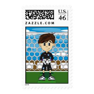 Cute England Soccer Goalkeeper Stamp