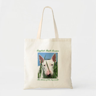 Cute English Bull Terrier-Clowns of the Dog World Tote Bag