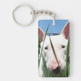 Cute English Bull Terrier Keychain