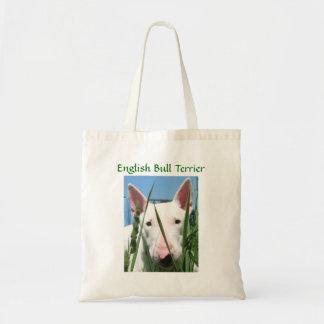 Cute English Bull Terrier Tote Bag