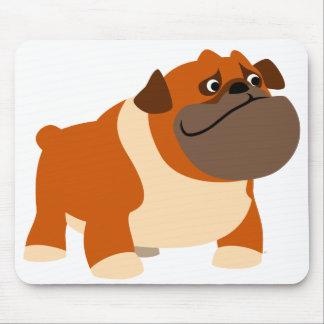 Cute English Bulldog Baby Clothing Mouse Pad