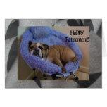 Cute English Bulldog Happy Retirement card!