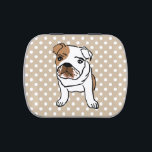 """Cute English Bulldog Illustration Candy Tin<br><div class=""""desc"""">Cute English Bulldog Illustration.  Designs for any Occasion. More designs and matching items are available at my store. - http://www.zazzle.com/designbylang* -  Thanks for visiting!</div>"""