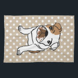 """Cute English Bulldog Illustration Hand Towel<br><div class=""""desc"""">Cute English Bulldog Illustration.  Designs for any Occasion. More designs and matching items are available at my store. - http://www.zazzle.com/designbylang* -  Thanks for visiting!</div>"""