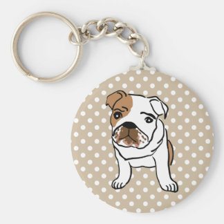 Cute English Bulldog Keychain