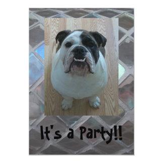 Cute English Bulldog Party Invitations