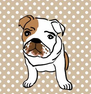 Cute English Bulldog Shower Curtain