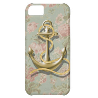 cute english floral girly anchor nautical iPhone 5C cases