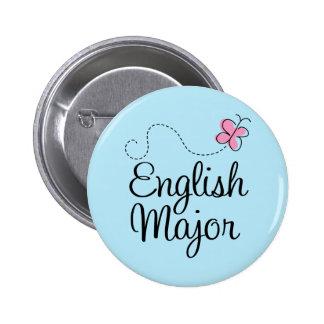 Cute English Major Gift Pinback Button