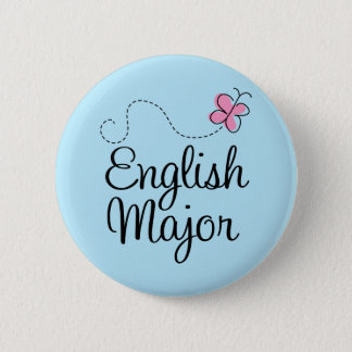 Cute English Major Gift Pinback Button