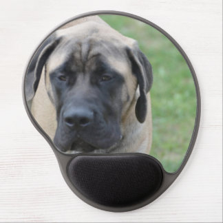 Cute English Mastiff Gel Mouse Pads