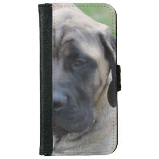 Cute English Mastiff iPhone 6 Wallet Case