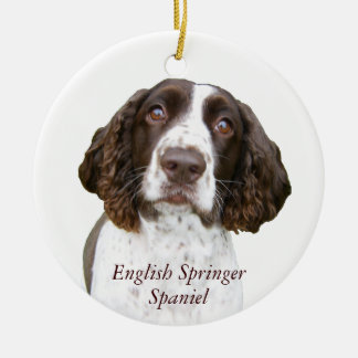 Cute English Springer Spaniel Christmas Ornament