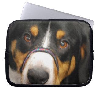 Cute Entlebucher Mountain Dog Laptop Sleeve