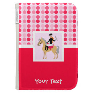 Cute Equestrian Girl. Case For The Kindle