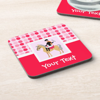 Cute Equestrian Girl. Coaster