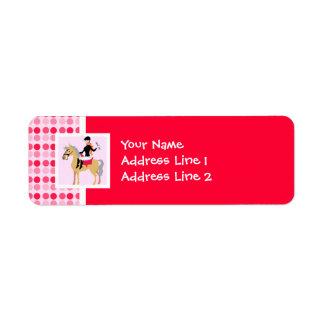 Cute Equestrian Girl. Custom Return Address Label