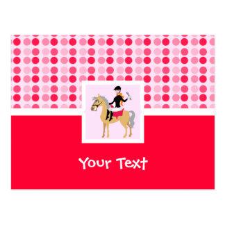 Cute Equestrian Girl. Postcard