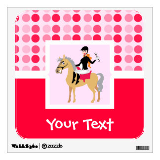 Cute Equestrian Girl. Room Decals