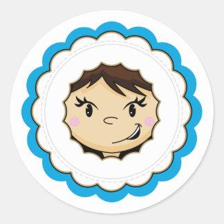 Cute Eskimo Face Sticker