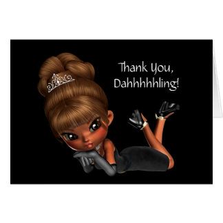 Cute Ethnic Princess Diva Thank You Card