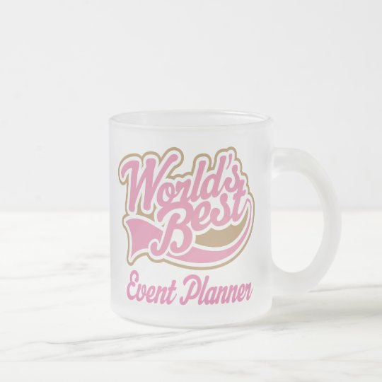 Cute Event Planner Frosted Glass Coffee Mug