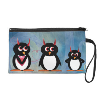 Cute Evil Penguins Wallet or Wristlet