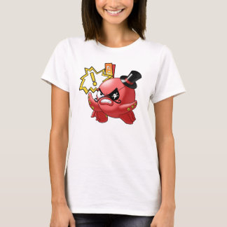Cute Evil Red Octopus with Mustache and Eye Patch T-Shirt