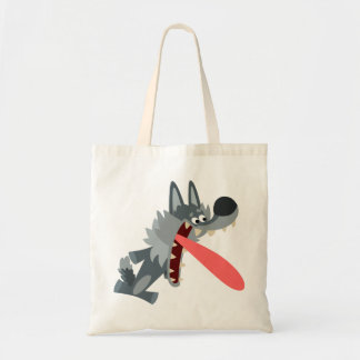 Cute Excited Cartoon Wolf Bag