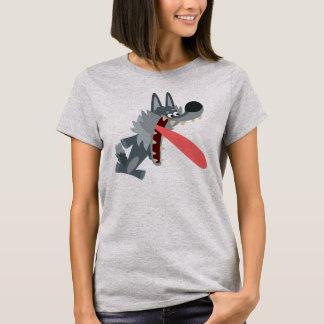 Cute Excited Cartoon Wolf Women T-Shirt