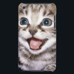 """Cute Excited Tabby Kitten iPod Case-Mate Case<br><div class=""""desc"""">Tabby kitten</div>"""