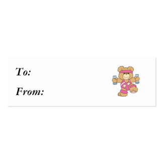 Cute Exercise Fitness bear Business Card
