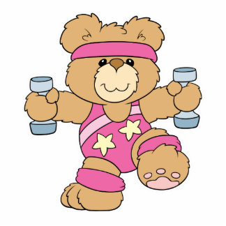 Cute Exercise Fitness bear Cutout