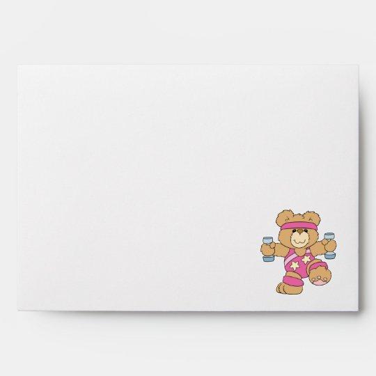 Cute Exercise Fitness bear Envelope