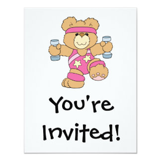 Cute Exercise Fitness bear Personalized Announcement