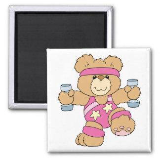 Cute Exercise Fitness bear Magnet