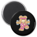 Cute Exercise Fitness bear Magnets