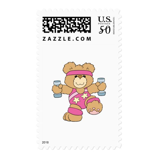 Cute Exercise Fitness bear Postage