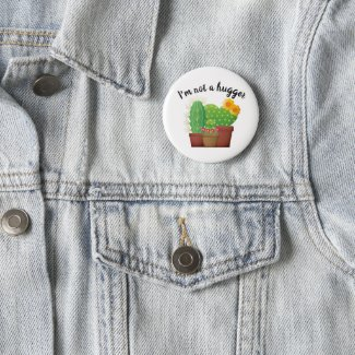 Cute Expression Cactus / Succulent Button