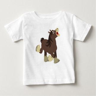 Cute Exuberant Cartoon Shire Horse Baby T-Shirt