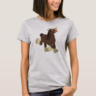 Cute Exuberant Cartoon Shire Horse Women T-Shirt