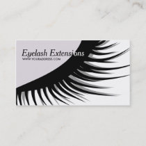 Cute Eyelash Extensions Business Card