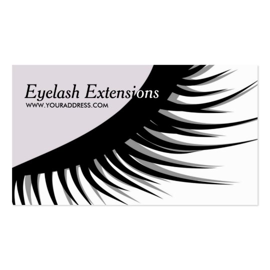 Cute eyelash extensions business card zazzle for Eyelash extension gift certificate template
