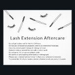"Cute Eyelash Extensions Makeup Artist Aftercare Flyer<br><div class=""desc"">Cute Hand-drawn Minimalist Eyelash Extension Aftercare Cards.</div>"