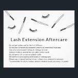 """Cute Eyelash Extensions Makeup Artist Aftercare Flyer<br><div class=""""desc"""">Cute Hand-drawn Minimalist Eyelash Extension Aftercare Cards.</div>"""
