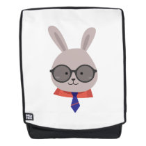 Cute Face Bunny Easter Day Gif Kids Boy Men Backpack