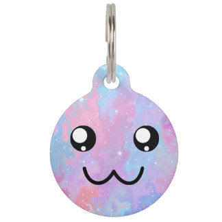 Cute Face Kawaii Pastel Magical Personalized Pet ID Tag