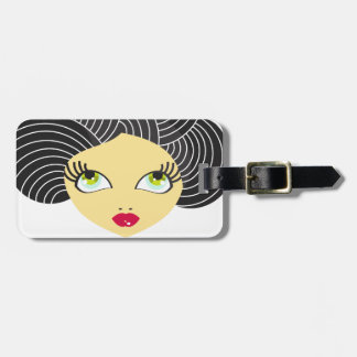 Cute Face Luggage Tag